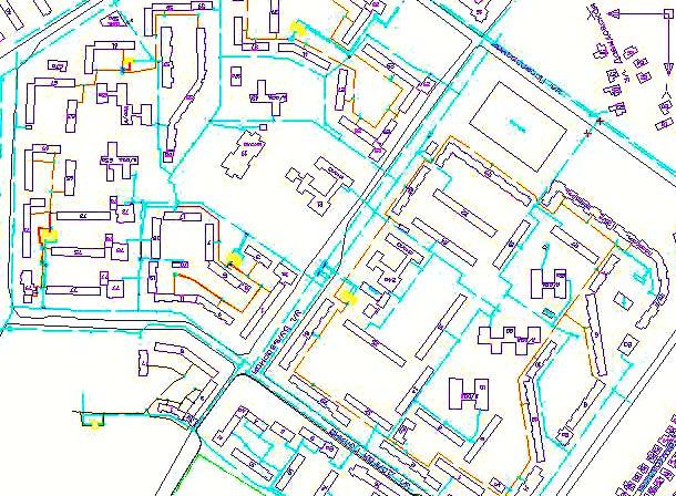 схема кабельная канализация
