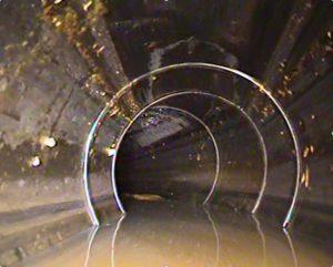 Трассировка телеинспекцией (видеодиагностика), поиск поворота трубы